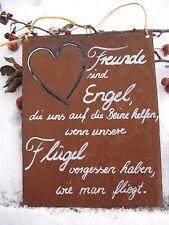 """Türschild - Edel-Rost -Tafel - Spruch - Schild - """"Freunde sind Engel, ...."""" (11)"""