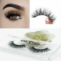 3D Mink False Eyelashes, Layered Wispy Lashes-Long Party Fluffy (Lilly/Miami) d6