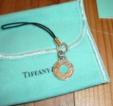 Tiffany & Co. Silver 925 Round Enamel Charm Rare 1837 Circle cell phone charm