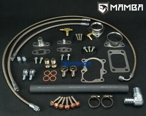 Full Turbo Oil & Water Line Install Kit For Nissan TD42 GQ Patrol Hitachi HT18