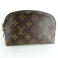 LOUIS VUITTON POCHETTE COSMETIC Pouch Purse Monogram M47515 Brown JUNK