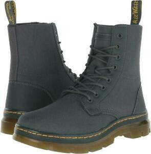 New Dr. Martens Combs 8 Eye Combat Boots 16607010 Charcoal Mens Size 14
