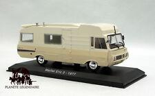 Miniature IXO CAMPING CAR 1/43e Le Maillet Eric 3 sur PEUGEOT J7 1976 NEUF