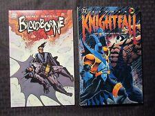 1993/02 BATMAN Knightfall 2 VF- & Bloodborne VF+ SC TPB 1st Printings