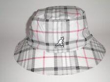 NEW Kangol RIO HONDO BUCKET Hat White Plaid S/M ($43) Cap Flexfit Golf Fish RARE
