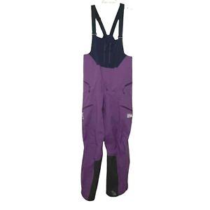 Mountain Hardwear Mens Exposure 2 Gore-Tex Pro Bib Snow Ski Purple Medium NWOT