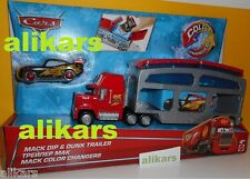 MACK DIP & DUNK TRAILER + COLOUR Changers LIGHTNING McQUEEN - Disney Mattel Cars