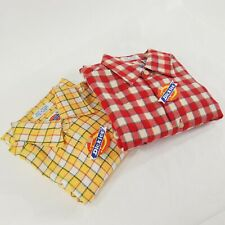 (2) VINTAGE DICKIES NOS FLANNEL WORK SHIRTS LOT Dead Stock w/ TAGS SIZE SMALL