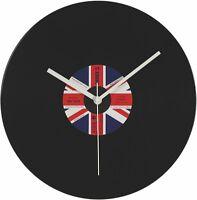 Wanduhr Schallplatte Uhr UNION JACK Vinyl Platte DJ Retro England Vintage NEU