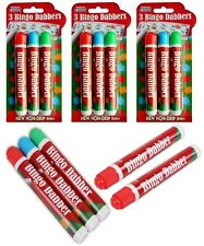 More details for large non-drip bingo dabbers ticket felt coloured red/blue/green markers pens
