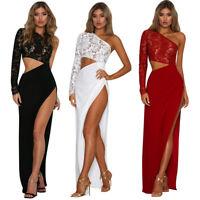 SEXY Partykleid Abendkleid Ballkleid Clubwear Spitze Kleid 1-Shoulder ROT BC412