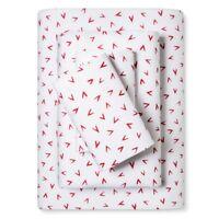 Pillowfort White & Red Molokai Printed 4pc Cotton Sheet Set, Full