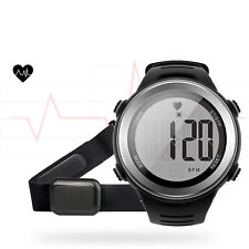 Running Fitness Sport Heart Rate Monitor Light Watch Alarm Stopwatch Chest Strap