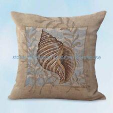 US SELLER, cheap cute pillows seashell beach nautical cushion cover