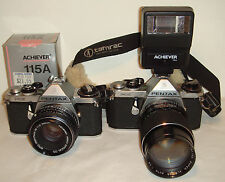 2 Pentax ME 35mm SLR Film Cameras with extras