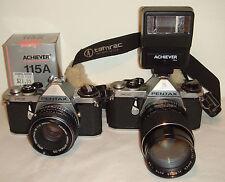 2 Pentax ME 35mm SLR Film Cameras with extras