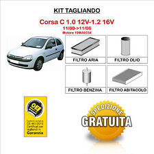 KIT TAGLIANDO 4 FILTRI OPEL Corsa C 1.0 12V-1.2 16V 11/00->11/06