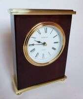 Hampton Quartz Mantel Table Clock Engraved Hugh M Cunningham - Works