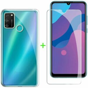 COQUE HONOR 9A HUAWEI + 2X VITRE housse silicone transparent VERRE TREMPE