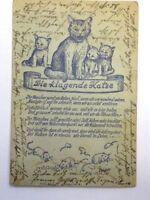 Künstlerkarte ALBERT HOHENESTER - Die Klagende Katze 1949