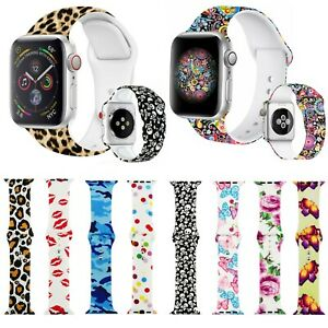 Flower Fancy Cute Silicone Strap Band For Apple iWatch 6,5,4,3,2,1 38/40/42/44mm
