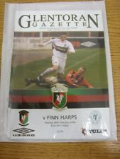 26/02/2008 Glentoran v Finn Harps  . Thanks for viewing this item offered to you