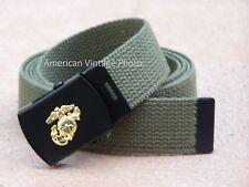 Belt Buckle Web USMC Cotton Marine Corps Military Style Parade Guard Shelby P38