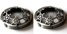 YANKEE CANDLE CHRISTMAS ILLUMALID DARK SNOWFLAKES PACK OF 2