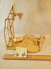 Orig Built 1965 Aurora Plastic Model Kit Jerry West Basketball Figures Unpainted