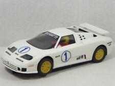 SCX/Scalextric Bugatti EB110 No.1 mit LICHT + Allrad/4WD Ref.8367 GUT! (F5854)