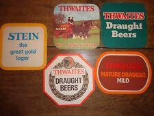 Beer mats drip mats coaster THWAITES STEIN Blackburn Lancashire beers rare