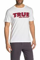 True Religion Men's Distorted Ripple TR Graphic Tee T-Shirt in White