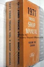 1971 Ford Truck Van Bronco Bus Factory Service Manual Set Shop Repair Reprint