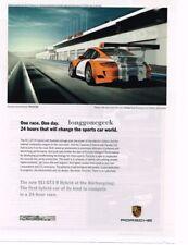 2010 PORSCHE 911 GT3 R Hybrid Orange & White at Nurburgring Advertisement