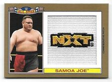2016 Topps WWE Heritage All Star Patches Gold Samoa Joe NXT Patch #08/10