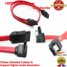 SATA Series Cables, Straight Angle + Right Angle+ Right Angle with Locking Latch