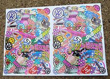 VW RC STICKER BOMB A4 SHEET TAMIYA SAND SCORCHER MONSTER BEETLE BAJA CAMPER GOLF