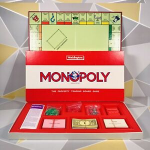 Monopoly Board Game Original Classic Red Box 100% Complete ⭐️FREE PP