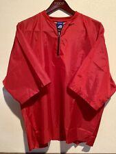 Mizuno Short Sleeve 1/4 Zip Red Pullover/Windbreaker Mens 44-46 XL