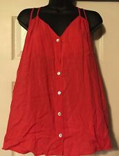 JUNIORS BUTTON DOWN SHEER TOP SHIRT BLOUSE L LARGE  BEJEWEL