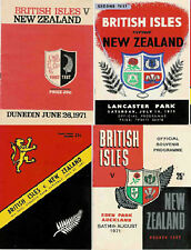 NEW ZEALAND v BRITISH (& IRISH) LIONS 1971 RUGBY PROGRAMMES - 4 TEST MATCHES