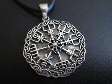 Wikinger Kompass 925 er Silber + Band + Box etNox Anhänger Wikinger     / 454