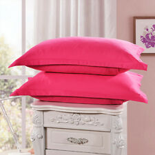 1/2Pcs Solid Polyester Pillow Cases Covers Pillowcases Standard Size 48*74cm