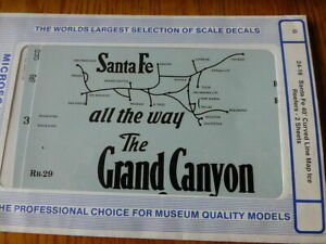 Microscale G #24-16 Santa Fe 40' Curved Line Map Ice Reefers - 2 Sheets