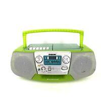Sony CFD-V177 CD Radio Cassette-corder 90's Mega Boom Box TESTED Lime Green