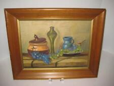 Vintage MCM Signed Framed Original Oil Painting On Board ~ Esten Campbell ~ 1967