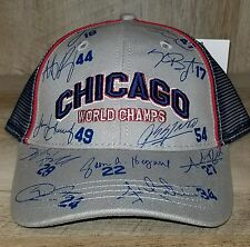 CHICAGO CUBS  2016 WORLD SERIES CHAMPIONS  Signature Autograph BASEBALL HAT CAP