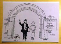 Tintin. Carte postale. TINTIN AU MUSÉE NATIONAL DE MARINE; 2015