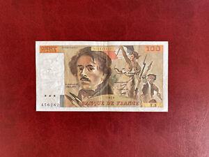 France Billet 100 Francs Delacroix T.3 1978 Non Hachuré Peu Courant !