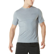 TSLA Tesla MTS04 HyperDri Short Sleeve Athletic T-Shirt - Heather Light Gray